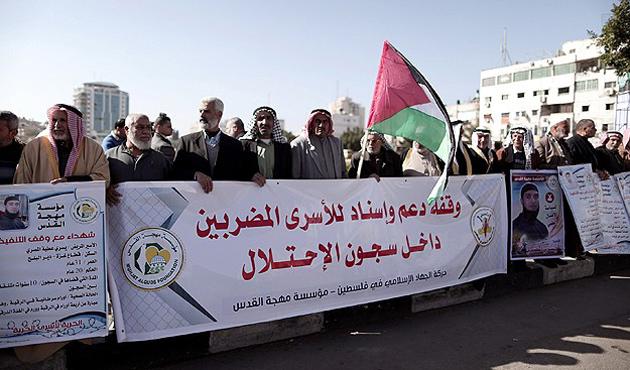 Gazze'de tutuklular için gösteri