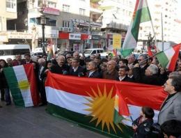 O ilde Kürdistan bayrağı dağıttılar