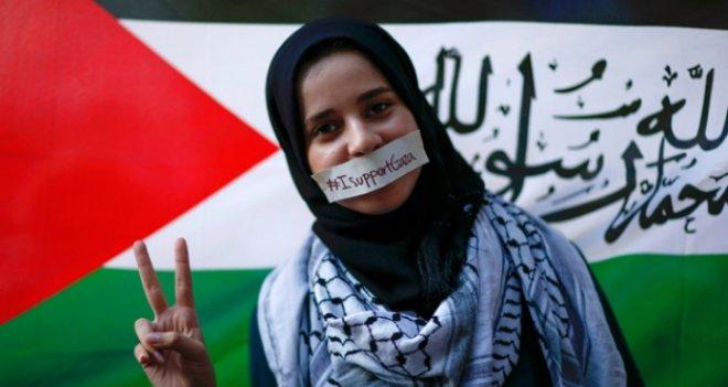 İsrail ablukasına karşı gösteri