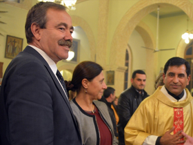 HDP'lilerden Kilisede yılbaşı kutlaması