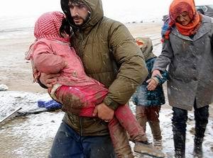 Suriye'de 8'i Çocuk 14 Kişi Donarak Öldü!