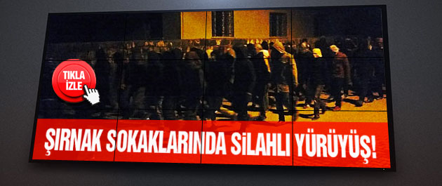 Şırnakta PKK sokğa İndi
