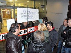 CHP İstanbul İl Başkanlığı Binasında Eylem