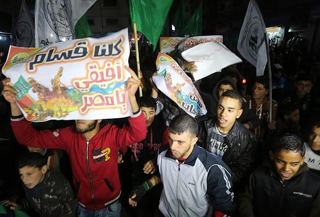 "Mısır'ın ""Kassam Tugayları"" Kararı Protesto Edildi"