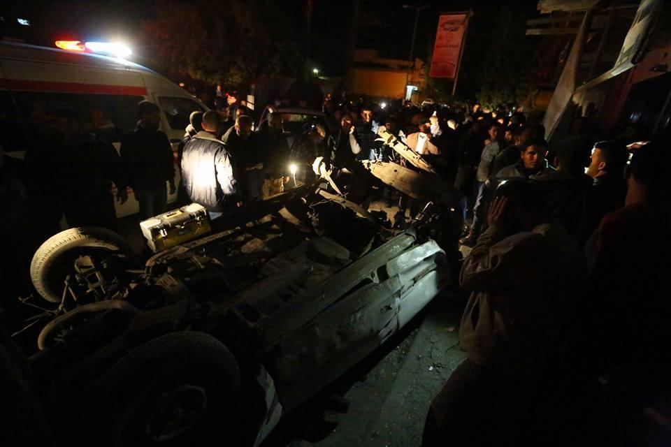 Gazze'de Hamas Liderinin Aracına Bombalı Saldırı-FOTO