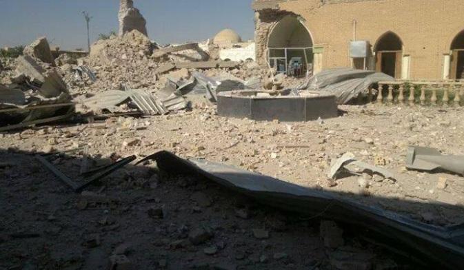 IŞİD, Anbar'daki Hazreti Ömer Camii'ni Bombaladı