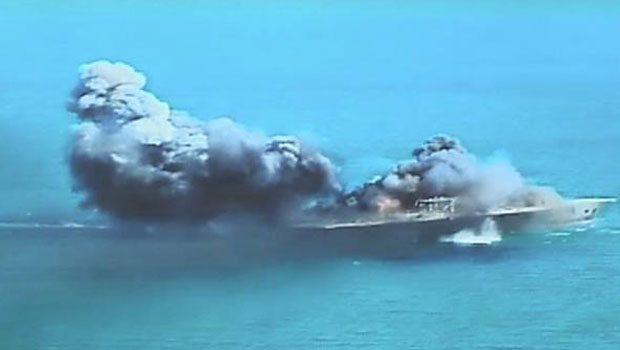 İran Amerikan Gemisini Batırdı-VİDEO