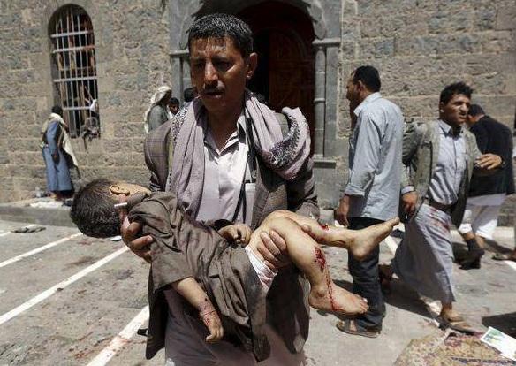 Yemen'de Cami Saldırısının Görüntüleri-VİDEO