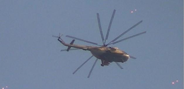 SuriyeOrdusuna Ait Helikopter Düştü