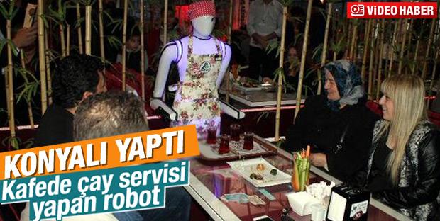 Konyalı Mucit Garson Robot Yaptı