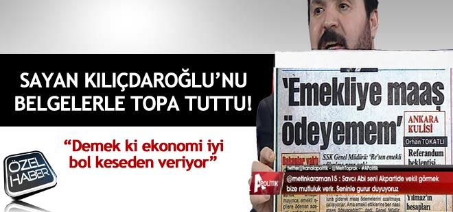 Savcı Sayan Kılıçdaroğlu'nu Belgelerle Topa Tuttu!