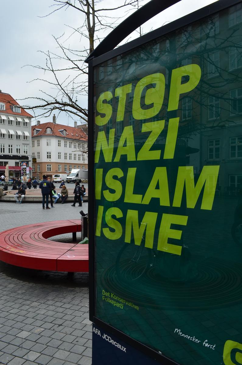 Danimarka'da tepki Çeken İslam Karşıtı Afiş