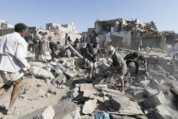 Suudi Hava Saldırısında 45 kişi Hayatını Kaybetti