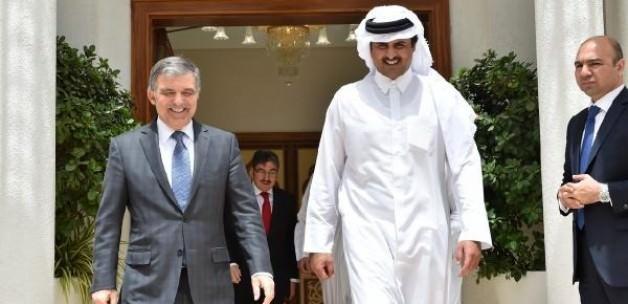 Abdullah Gül Katar Emiri İle Görüştü