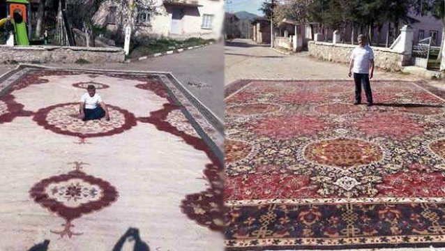 Ak Saraya 50 bin liralık Halı