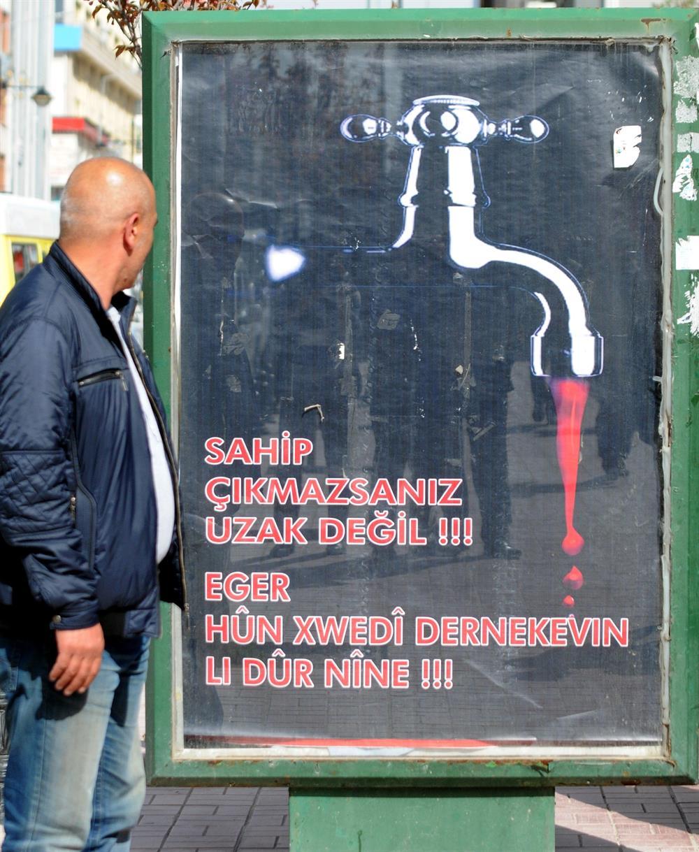 PKK'dan Kanlı Bilbord Reklamı