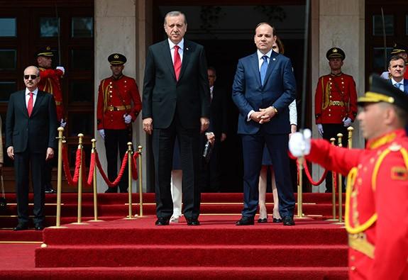 Cumhurbaşkanı Erdoğan Arnavutluk'ta