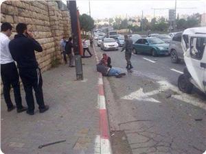 İşgal Polisine Yapılan Araçlı  Eylemde 1 Kişi Yaralandı