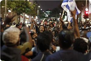 Etiyopyalı Yahudiler İşgal Rejiminin Irkçılığını Protesto Etti