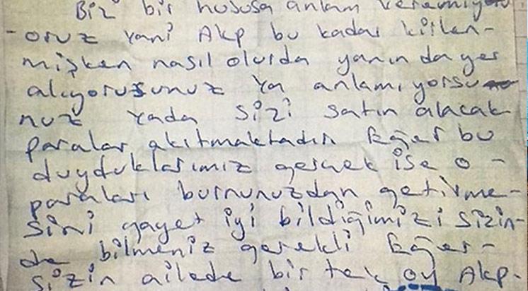 PKK'dan Vatandaşa Tehdit Mektubu