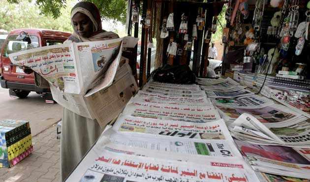 Sudanlı Gazeteciler Greve Gitti