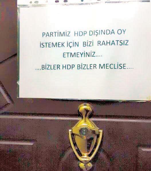 HDP'den Tehdit Mesajları