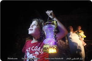 Ramazan Fanusları Gazze Şeridi'nin Yıkık Evlerini Aydınlattı