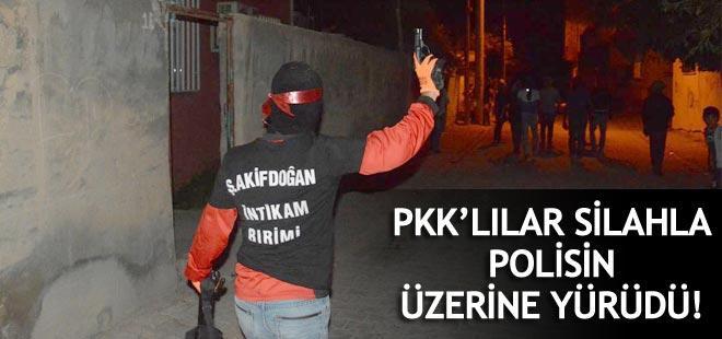 PKK'lılar Silahla Polisin Üzerine Yürüdü