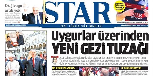 Star'a Göre Çin'i Hedef alan Saldırılar yeni 'GeziTuzağı'ymış!