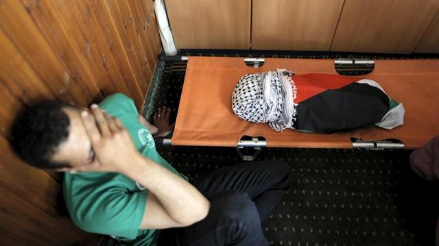 Yakılan Filistinli Bebek Defnedildi