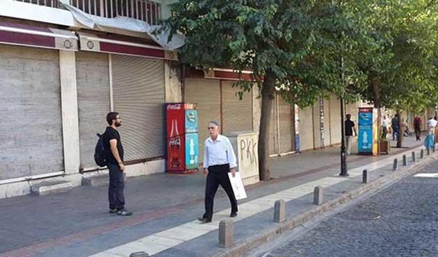 DBP Çağrı Yaptı, Diyarbakır'da Kepenkler Açılmadı