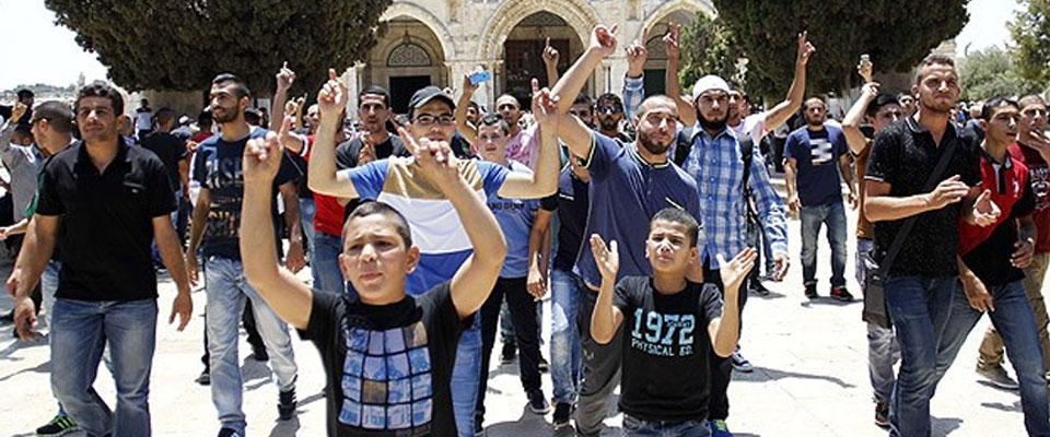 Kudüs'ün Gençleri Aksa için 'Tek Vücut'