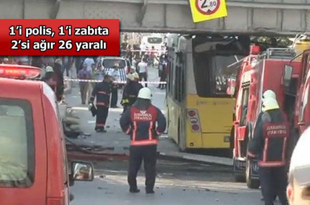 Üst Geçide Çarpan İETT Otobüsünde Patlama