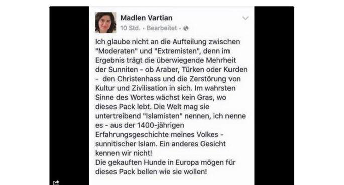 Ermeni Asıllı Alman Politikacı Müslümanlara Hakaret Etti