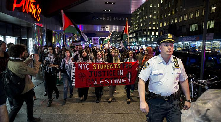 Filistin için New York'ta Dayanışma Gösterisi
