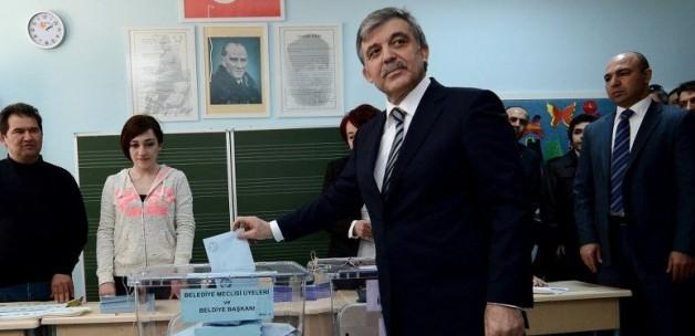 Abdullah Gül'den Seçim Açıklaması