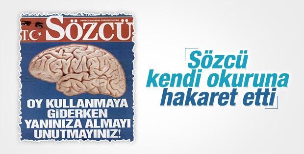 """Sözcü'den """"Beyin""""siz Manşet"""