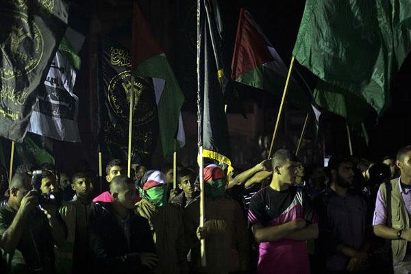 Gazze'de, Filistin Ayaklanmasına Destek
