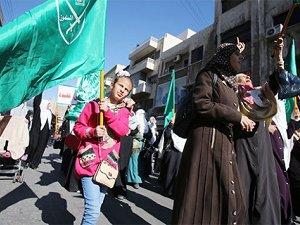 Ürdün Halkından Filistin'e Destek Yürüyüşü