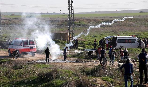 İsrail'den Gazze'deki Gösterilere Saldırı