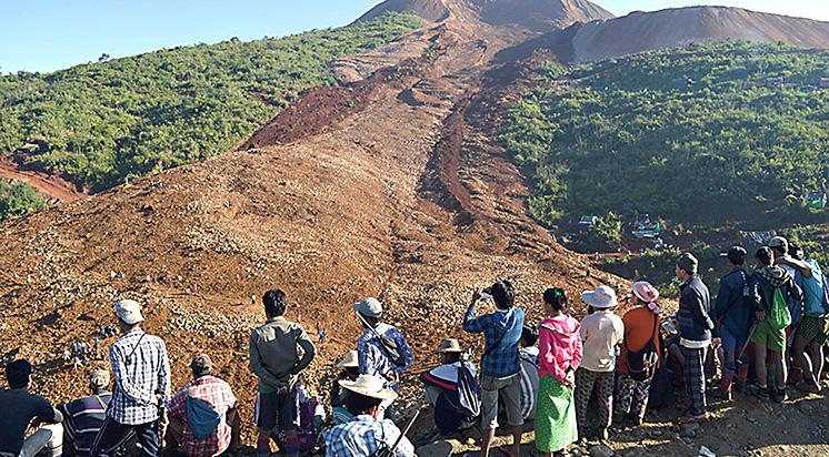 Myanmar'da Heyelan Felaketi