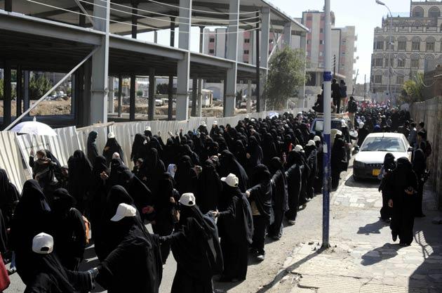 Yemen'de Kadınlar da Direniş'te