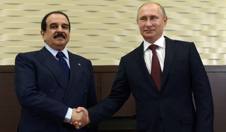 Bahreyn Kralı Al Halife Rusya'da