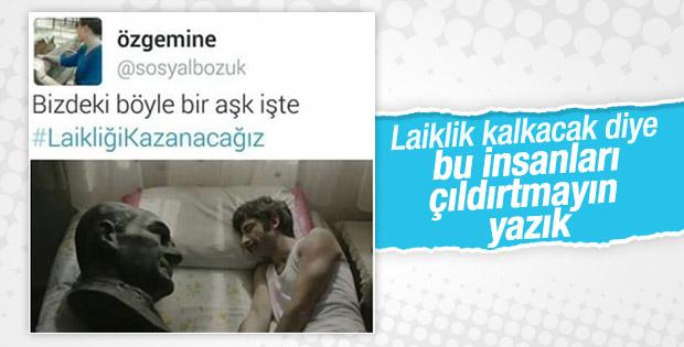 Atatürk'le uyuyan adam paylaşımı