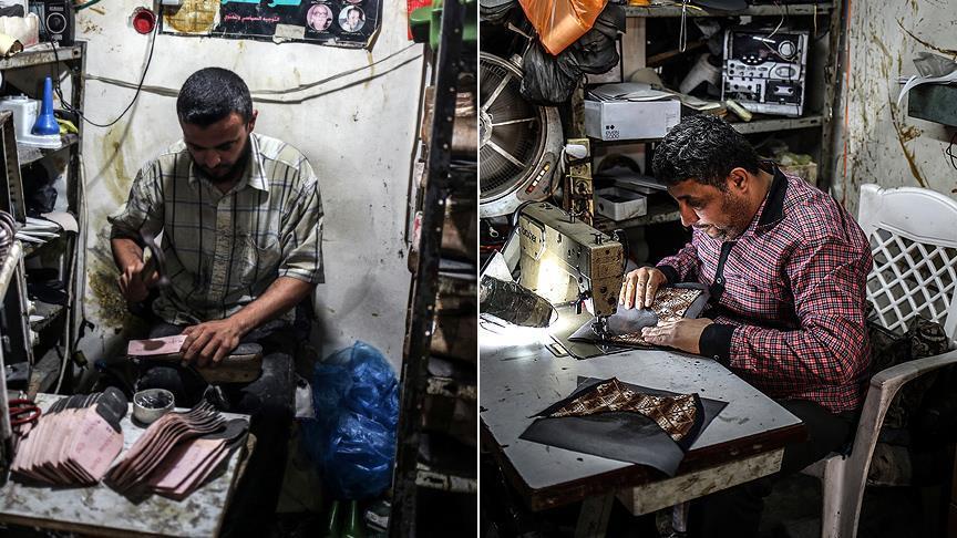 Gazze'deki Ablukanın Mağduru 'Ayakkabı Atölyeleri'