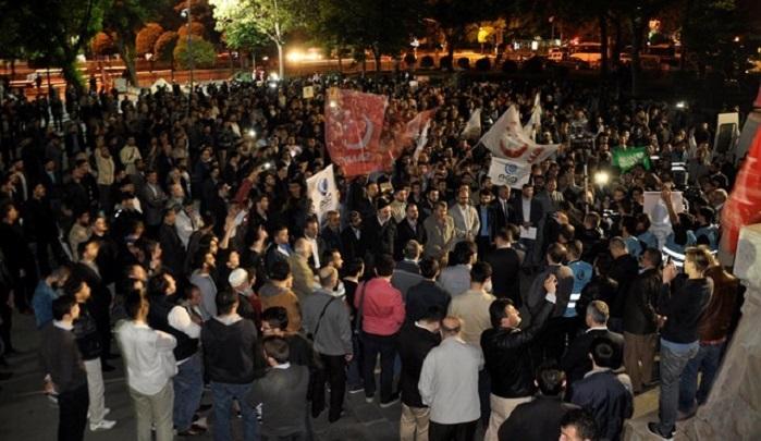 Cemaat-i İslami liderinin idamı Fatih'te protesto edildi