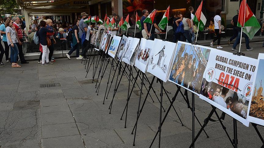 Viyana'da İsrail'in Gazze Ablukası Protesto Edildi