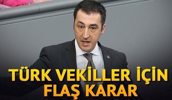Türk Vekiller İçin Flaş Karar