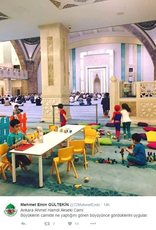 Camilerde Çocuklar için Oyun Alanı Uygulaması