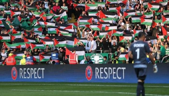 Celtic Taraftarları, İsrail Takımını Filistin Bayraklarıyla Karşıladı